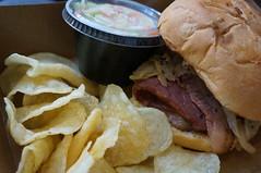 DSC06304 (RosieTulips) Tags: sandwich chips coleslaw bcplace smokedbrisket beastonfire