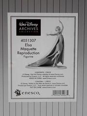 Elsa Maquette Reproduction Figurine - Boxed - Closeup Rear View - Label (drj1828) Tags: frozen disney animated resin figurine boxed purchase limitededition elsa snowqueen enesco waltdisneyarchivescollection