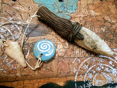DSCN2588 (LynzCraftz) Tags: art necklace handmade spirit oneofakind goddess polymerclay resin arrowhead pendant amulet renaissancefair swellegant