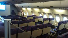 Economy Class (rear) on Airbus A300B4 F-WUAB (ex Sempati Air PK-JID), Muse Aeroscopia, Toulouse, France. (Vasconium) Tags: france rear airbus toulouse economyclass a300b4 sempatiair december2015 museeaeroscopia pkjid