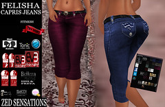 Felisha fm CAPRIS jeans (Zed Sensations) Tags: city urban fashion clothing long venus slim pants mesh grunge hipster jeans lara trousers denim casual sensations isis freya zed ganga apparel physique hourglass tmp fitted maitreya bermudas pulpy fitmesh evemesh