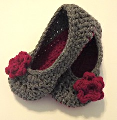 rose slippers (AtTheSmithHouse) Tags: handmade crochet etsy slippers picmonkey slippersandbooties