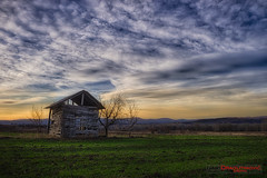 Old cabin (ivandragutinovic) Tags: old blue sunset orange green beauty grass clouds landscape golden cabin outdoor sony ivan hour a7 pikaso sokobanja dragutinovic ivandragutinovicphotography