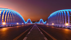 Meydan Bridge (Achim Thomae) Tags: dubai uae abudhabi unitedarabemirates vae 2015 vereinigtearabischeemirate thomae achimthomae copyrightachimthomae