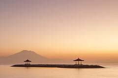 Sanur Sunrise (Jokoleo) Tags: bali beach sunrise indonesia dawn calm gazebo serenity tranquil breakwater sanur