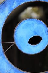 The Blue Eye (Poocher7) Tags: blue ontario abstract eye art circle round blueeye bayfield shadesofblue