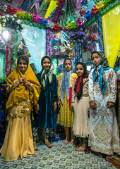 girls inside the bride and groom room for a wedding, Qeshm Island, Salakh, Iran (Eric Lafforgue) Tags: wedding girls people colour green childhood vertical kids children religious colorful asia pattern iran bright decorative room muslim islam traditional religion decoration ceremony culture traditions marriage persia folklore celebration indoors ritual colourful ornate custom decor groupofpeople cultures abundance cultural islamic middleeastern persiangulf sunni elaborate qeshmisland hormozgan  bandari  5people  iro straitofhormuz  colourpicture  salakh irandsc03604
