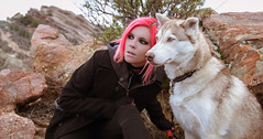 Pandora and Khaleesi (1 of 2) (liquidhavok) Tags: huskie khaleesi vasquezrocks