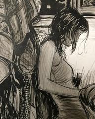 Closeup (Dorian Vallejo) Tags: art painting mixed media drawing fine drawings figure oil vallejo dorian