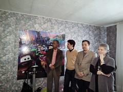 from left to right Mr John Griffn, Mr Askar Toksanbayev, Mr Aidyn Aimbetov third kazakh spaceman, Ms Zhanat Ahmetova ABA therapist (COCAFoundation) Tags: kazakhstan coca autism astana