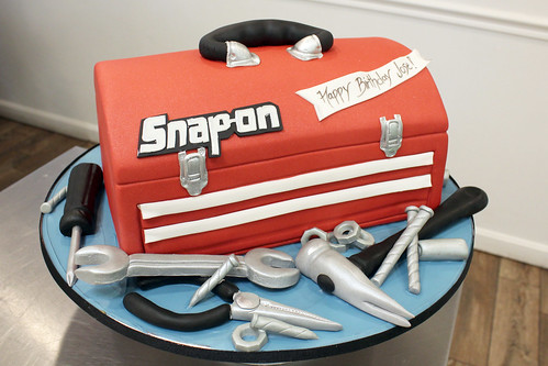 Sculpted Tool Box Cake
