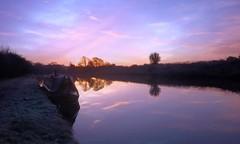 Tis (plot19) Tags: trees light sunset england sky english sunrise landscape photography boat cheshire northwest britain sony north british northern frodsham rx100 plot19
