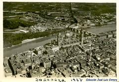Vista area 1937 (GAZA - Gran Archivo Zaragoza Antigua) Tags: 1937