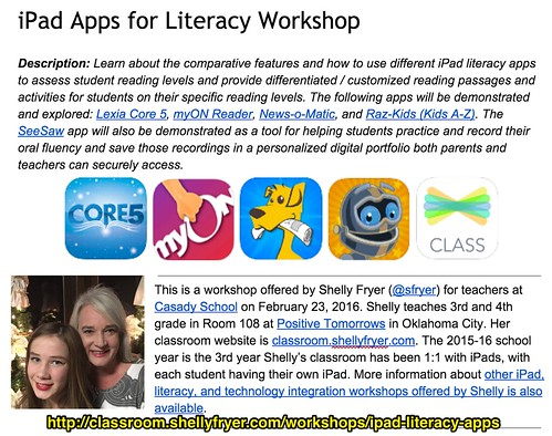 iPad Apps for Literacy Workshop by shellyfryer, on Flickr