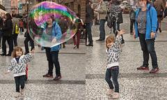 Bubble burst (phillipbonsai) Tags: prague bubble czechrepublic streettheatre