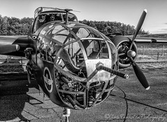 B-25 Mitchell (Chris Parmeter Photography (smokinman88)) Tags: monochrome plane famous historic ww2 mitchell bomber b25 blackwhitehdr