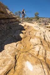 Keep on rockin' on! (GlobalGoebel) Tags: bear arizona mountain canon rocks sedona az hike powershot pointandshoot hiker steep s95