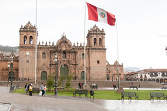The Cathedral of Cusco _0627 (hkoons) Tags: plaza people church architecture square religious town catholic village christ cusco faith religion towers arts center christian bible activities worldheritage plazadearmas unescosworldheritage cathedralofsantodomingo cathedralofcusco archdioceseofcusco