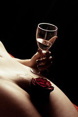my sweet valentine (petite.soleil) Tags: woman art girl rose canon hair naked nude erotic day shaved vine valentine pubic