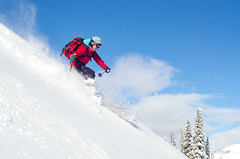 Pam (nevadoyerupaja) Tags: winter friends usa mountain snow cold creek nikon skiing smoke freezing powder pam backcountry wyoming buck range backcountryskiing nikond7000