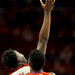 Wolfpack forward Malik Abu tips the ball in the NC State direction.