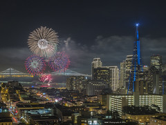 Macy's Pre Super Bowl Fireworks (Nam Ing) Tags: sanfrancisco fireworks macy inacoolbrithpark superbowl50