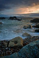 Godrevy. (Andy Bracey -) Tags: longexposure light sunset sea blur beach coast nikon holidays rocks cornwall stones august pebbles atlantic motionblur godrevy bracey leefilters d700 godrevytowans andybracey