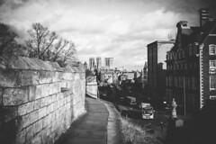 View Towards York Minster (Matthew-King) Tags: from york city white black monochrome view down walls minster towards