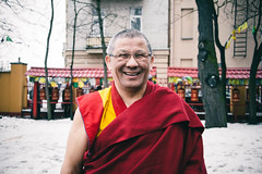 the abbot (red line highway) Tags: street city light red portrait people man color smile stpetersburg temple photography nikon faces russia buddhist religion photojournalism documentary monk buddhism social philosophy society reportage abbot