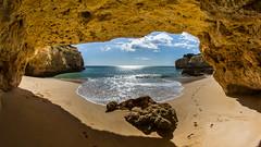 cave view (Flip_Over) Tags: portugal coast view sony ngc hike fisheye cave algarve 8mm kste wanderung armaodepra uww ennex alpha580