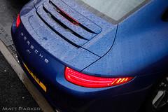 Moist (MJParker1804) Tags: blue cars wet water rain aqua 911 s porsche beading carrera 991 c2s pdk 2011