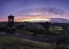 Ultra Wide Vista (Kyoshi Masamune) Tags: uk sunset panorama scotland edinburgh edinburghcastle princesstreet wideangle forth stgilescathedral caltonhill hdr highdynamicrange scottmonument firthofforth pentlandhills ultrawideangle corstorphinehill dugaldstewartmonument citypanorama cokinfilters cokinnd8 pentlandhillsregionalpark kyoshimasamune uustu