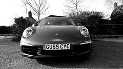 Porsche 911 Type 991. Binsey West Oxford UK. (James Holme) Tags: blackandwhite unitedkingdom 911 windowsmobile porsche oxford oxfordshire porsche911 991 binsey mobilephotography westoxford porsche911991 nokiacreativestudio nokialumia930