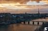 Rive gauche - Pont des Arts III (A.G. Photographe) Tags: sunset paris france seine french nikon europe eiffeltower toureiffel ag capitale nikkor français lesinvalides parisian anto bateauxmouches pontdesarts institutdefrance xiii parisien 2470 d810 antoxiii agphotographe