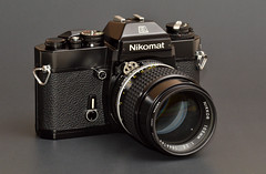 Nikon EL with Ai-S Nikkor 105mm f/2.5 (trphotoguy) Tags: classiccamera nikomatel nikkormatel nikonel nikonfilmcamera nikonfilmslr aisnikkor105mmf25 nikomatelreview nikkormatelreview