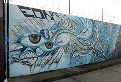 Mural by EON75 (wiredforlego) Tags: california streetart graffiti oakland oak mural urbanart maxehrman eon75