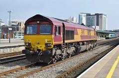 66078 at Cardiff Central. 15/3/16 (Nick Wilcock) Tags: wales cardiff railways dbs margam class66 ews cardiffcentral llanwern 66078 dbschenker