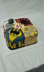 Superhero Cake (tasteoflovebakery) Tags: birthday man cake spider iron adult ninja spiderman turtles superhero batman mutant teenage
