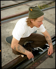 Sean Hadley, Salt Lake City, UT. May, 2011. (Faux Sure) Tags: utah skateboarding saltlakecity portra400 mamiya7 may2011