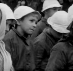 Is it to stop other children joining our outing (theirhistory) Tags: girls boys hat kids children shoes war europe wwii ww2 soldiers raincoats germans