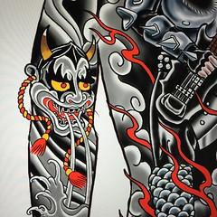 Gene Simmons Hannya...#godofthunder #kisstattoo #genesimmons #demon