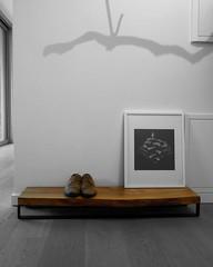 Shoerack walnut (Treeaddict) Tags: nature munich design furniture handmade interior walnut local wardrobe mbel tor rainer holz schuhe garderobe walnuss schwabinger hallmann collorkey treeaddict