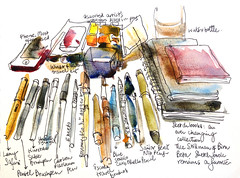 What's in my sketch kit? (suhita1) Tags: sketchkit suhita urbansketcher