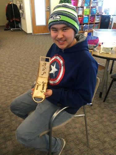 "Displaying a laser-cut sled model (Anchorage, AL). Photo: Fab Lab Cook Inlet Tribal Council. http://citci.org/education/fab-lab/ • <a style=""font-size:0.8em;"" href=""http://www.flickr.com/photos/141018745@N05/25750527226/"" target=""_blank"">View on Flickr</a>"