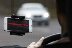 Don't Stream and Drive (Greater Manchester Police) Tags: car wheel video driving smartphone streaming distraction socialmedia oncomingcar dontstreamanddrive dontstreamanddriveday