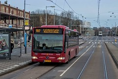 Connexxion Sternet Citaro bus 4000, line 197, Amstelveenseweg (Don Maskerade) Tags: world red bus public amsterdam mercedes traffic transport transportation mercedesbenz rood schiphol autobus 4000 ov stadionplein vervoer amstelveenseweg openbaar connexxion citaro cxx of sternet schipholsternet