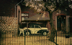 the old friend with the British accent (glasseyes view) Tags: netherlands car friend oldtimer springtime verybritish mergelland glasseyesview