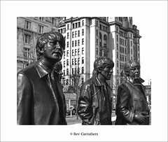 the fab four..... (bevscwelsh) Tags: city film liverpool waterfront beatles analogue olympusom1n johnpaulgeorgeringo olympusom50mm fujifilmc41
