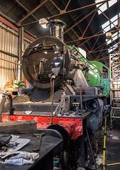 Nearly Ready (4486Merlin) Tags: england europe leicestershire unitedkingdom transport steam railways loughborough midlands mpd gbr greatcentralrailway heritagerailways 78018 exbr brstd2mt260 eastervintagefestival