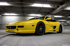 ferrari-f355-spider-m540-matte-black-2 (AvantGardeWheels) Tags: black wheel yellow design spider gallery wheels ferrari ag finish designs custom aggressive rim rims lowered avant garde matte offset finishing stance avantgarde f355 20inch bespoke fitment m540 agwheels